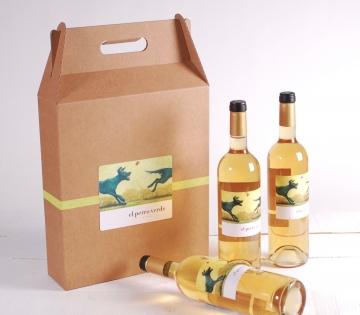 Décoration boîte pack 3 bouteilles de vin