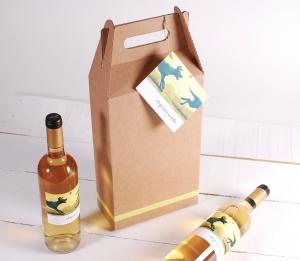 Décoration boîte pack 2 bouteilles de vin