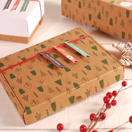 Décoration boîte de Noël plate