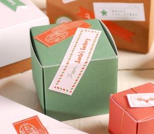 Décoration de Noël boîte carrée