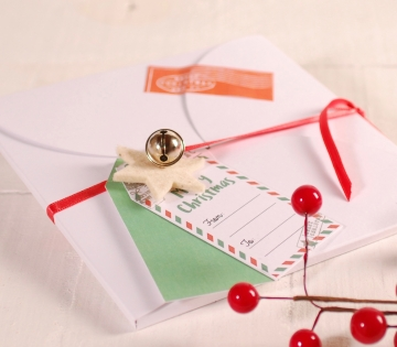 Décoration de Noël boîte enveloppe carrée