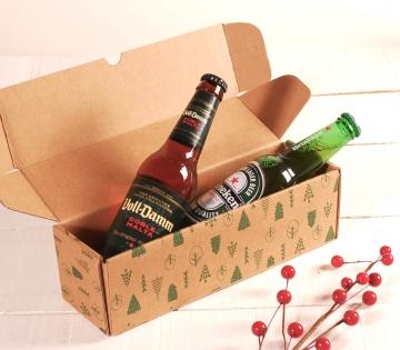 Décoration boîte de Noël allongée