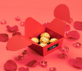 Boîte carton en forme de cœur