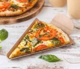 Triangle pour part de pizza en carton