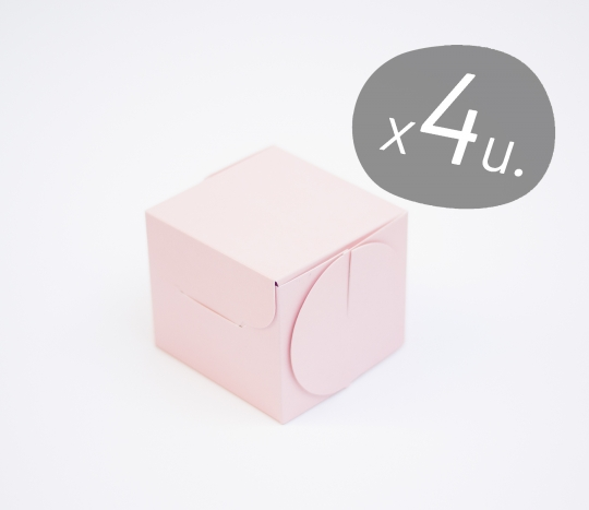 Pack de 4 boîtes pour cupcakes avec couvercle cartonné