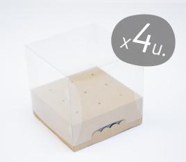 Pack de 4 boîtes carrées pour Cake Pops