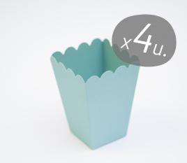 Pack de 4 boîtes pour popcorns