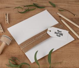 Bristol papier recyclé 16,5 x 16,5 cm