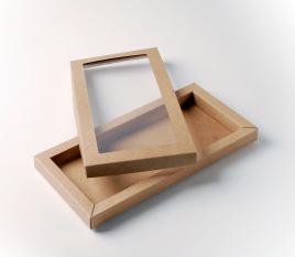 Boîte avec fenêtre pour biscuit