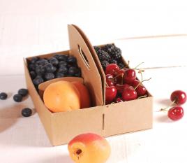 Caisse en carton pour fruits rouges