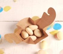 Petite boîte carton de chocolats individuelle