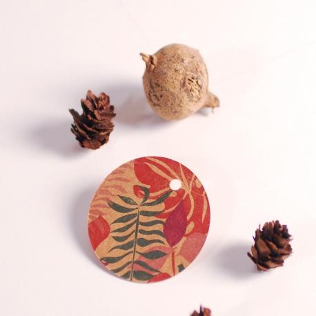 Étiquettes rondes collection Blossom