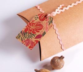 Ruban zigzag rose