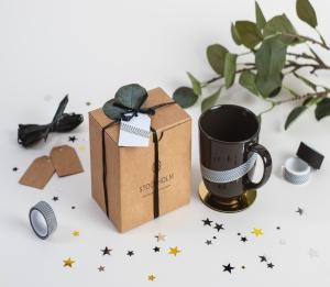 Boîte minimaliste pour tasses