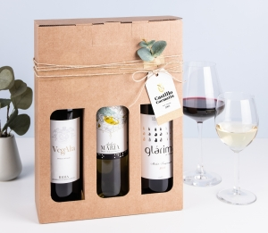 Boîte pour bouteilles de vin