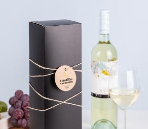 Boîte pour bouteille de vin noir mat