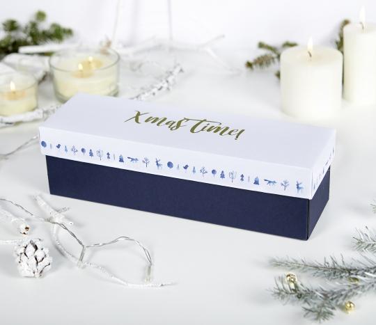 Boîte pour bouteille de vin de Noël