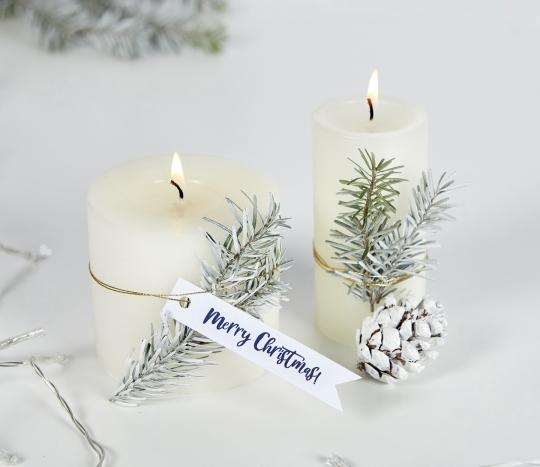 Étiquettes blanches de Noël