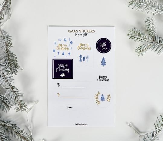 Autocollants de Noël pour écrire