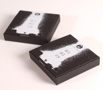Boîte cadeau mariage noire