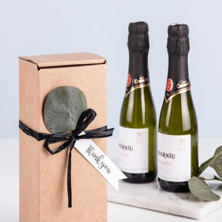 Boîte d'expédition allongée pour les bouteille de vin.