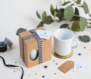 Boîte cadeau pour tasses avec anse