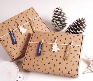 Boîte pour carte postale de Noël