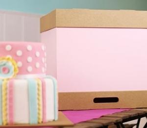 Boîte à gâteaux haute