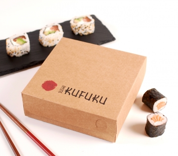 Boîte carrée sushis varié