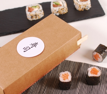 Boîte rectangulaire sushis