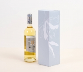 Boîte carton à vin simple pour une bouteille