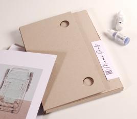 Dossier porte document en carton