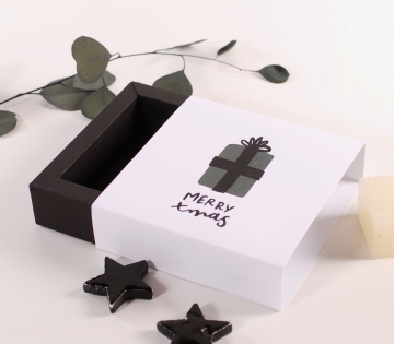 Boîte carrée pour cadeaux de Noël