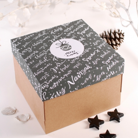 Boîte avec couvercle de Noël