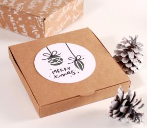 Boîte d'invitation de Noël