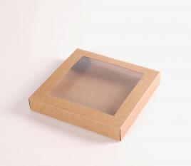 Boîte plate avec fenêtre