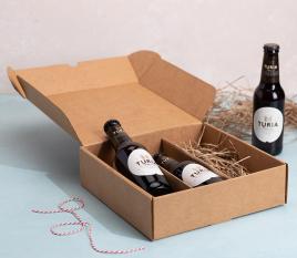 Boîte plane avec support pour bières