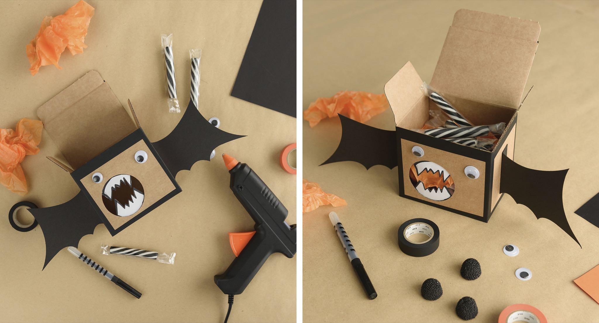 SelfPackaging - Halloween - caja muercielago - Paso 03-04