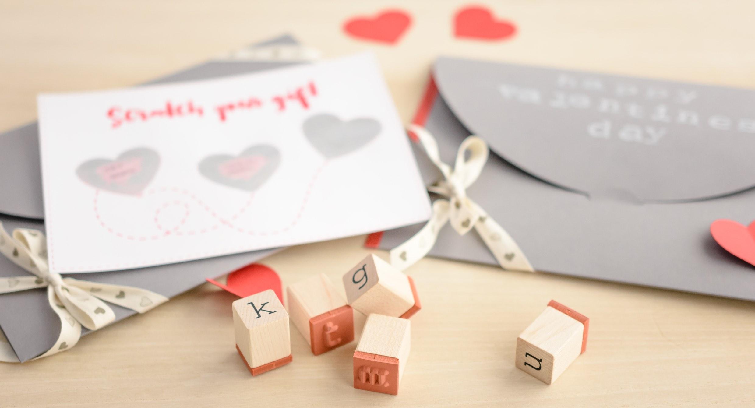 Carte de la Saint Valentin à gratter