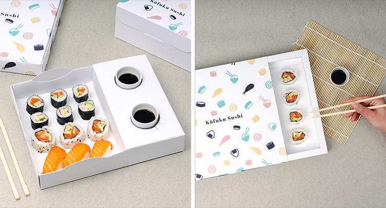 boîte d'alimentation de sushi