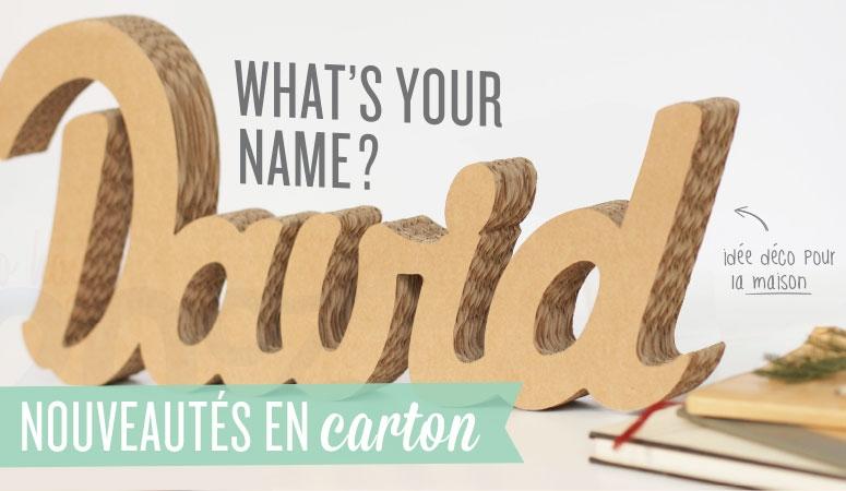 Prenom en carton